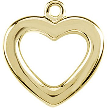 14kt Yellow Gold Tiny Heart Charm