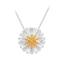 Daisy Sterling Silver Collar Necklace