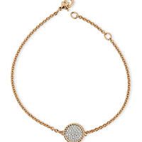 18K Rose Gold & Pavé Diamond Cable Bracelet