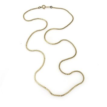 14k Gold S Link Chain Necklace, Vintage, 1930s to 1980s