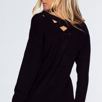 Cozy Nights Sweater - Black
