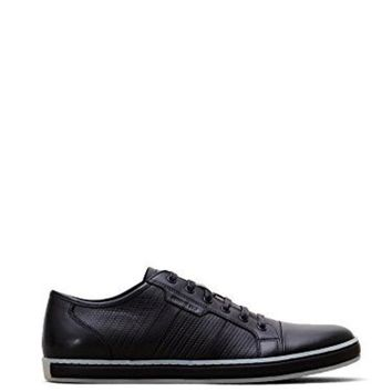 ONETOW Kenneth Cole New York Men's Brand Wagon Black Leather Sneaker 10 M US