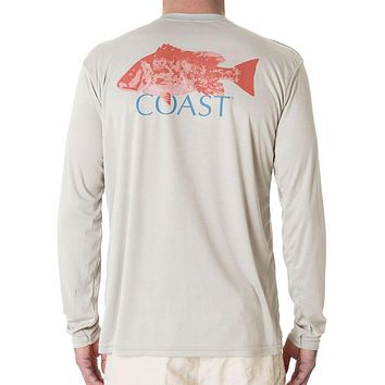 Red Snapper Performance Shirt in Grey by Coast