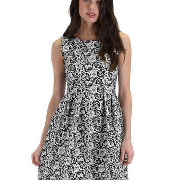 Lyss Loo I'm Smitten Print F Mixed Print Skater Dress With Pockets