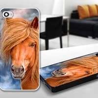 Cool Horse Vintage Painting Print Case for iPhone 4/4s, 5, 5c, 5s, Samsung S3, S4