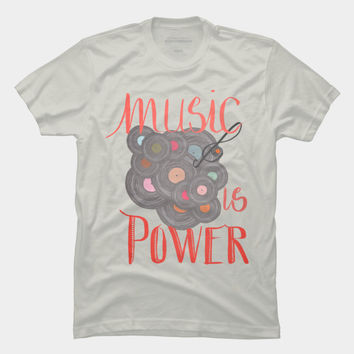 Music Is Power T Shirt By ViviGonzalezArt Design By Humans