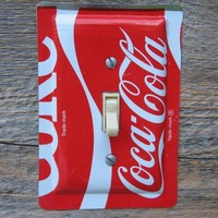 Coke Coca Cola Tin Pail Single Switch Plate