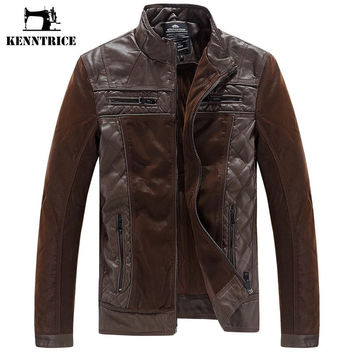 New Arrived Patchwork Leather Jacket Men Sheepskin Coats Pilot Leather Jacket Winter Coats Men Suede