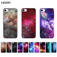 Silicone Case For iPhone 7 7plus 8 X 10 Shell for iPhone 5s 5c SE 6 6s 6plus Case Transparent TPU Bumper Shining Star Phone Case