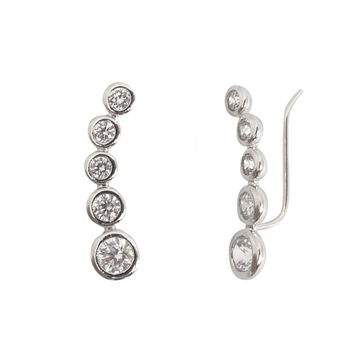 Crystal Bauble Ear Crawlers