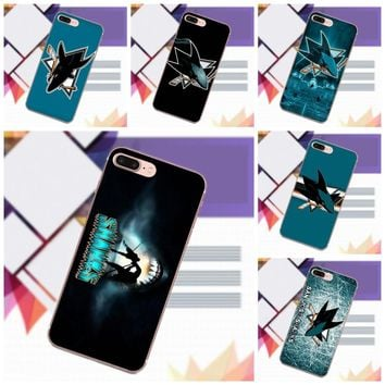 Vvcqod Soft Cool Best Cover Case Nhl San Jose Sharks Team Logo For iPhone X 4 4S 5 5C 5S SE 6 6S 7 8 Plus For Moto G G2 G3