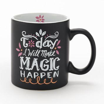 13-oz. ''Today I Will Make Magic Happen'' Coffee Mug (Black)