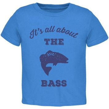 LMFCY8 Paws - It's all about the Bass Blue Toddler T-Shirt
