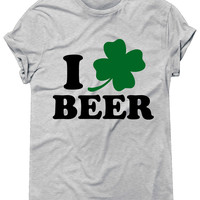 I Clover Beer Graphic Tee, St Patricks Day Tshirt