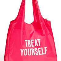 kate spade new york 'treat yourself' reusable shopping tote - Pink