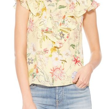 Parker Terry Floral Silk Top | Nordstrom