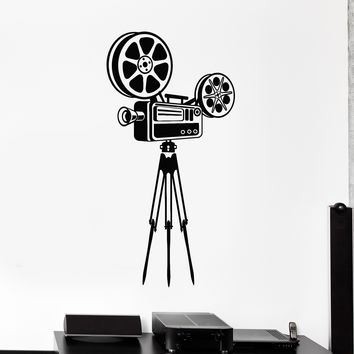 Vinyl Wall Decal Camera Filming Cinema Movie Art Stickers Mural Unique Gift (546ig)