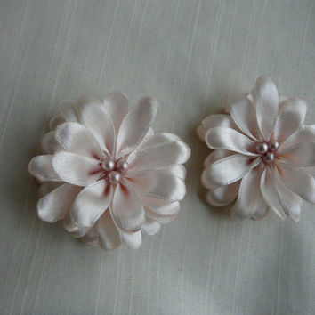 Pale Pink Hair Clip,  Pale Pink Hair Flower, Pink Flower Girl Hair Accessory, Small Pink Wedding Flower