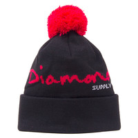 Diamond Supply Co. Og Script Pom Beanie - Black at Urban Industry