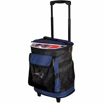 NEW ENGLAND PATRIOTS Rolling Cooler Backpack Straps and Compartments NFL by Logo