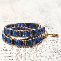 Me To We Midnight Blue Mambo Wrap Bracelet - Womens Jewelry - Blue - One