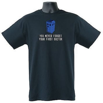 You Never Forget Your First Doctor Police Box Mens Ladies Kids T-Shirts  S-XXL