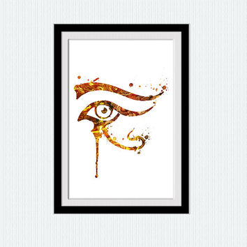 Eye of Ra watercolor poster Eye of Ra colorful print Egyptian mythology watercolor illustration Home decoration Wall hanging decor art  W398