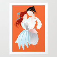 Disney - Ariel & Eric Art Print by Jessica Slater Design & Illustration