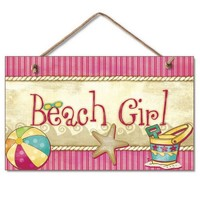 Beach Girl Sign Wooden