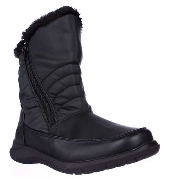 Weatherproof Alex Mid-Calf Faux Fur Lined Winter Boots, Black, 6 US