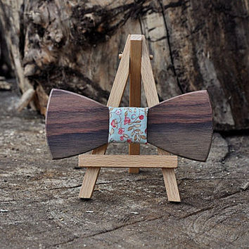 Christmas gift Wooden bow tie. Rosewood bowtie. 8 wood type to choose .  Jules Verne store