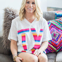T.X. Serape v-neck from PeaceLove&Jewels