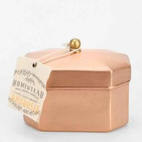 Found Goods Market Homestead Copper Tea Tin Candle-