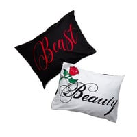 Disney Beauty & The Beast Pillowcase Set