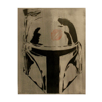 BOBA PHAT Boba Fett 8x10 Star Wars Graffiti Street Art Pop Art Inspired Bounty Hunter Portrait on Canvas