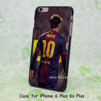 Barcelona Messi Athlete Sports Stars Series Protective Pattern hard black Case Cover for iPhone 4 4s 5 5s 5c 6 6s 6 Plus 6s Plus