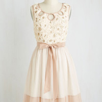 Fairytale Mid-length Sleeveless Fit & Flare Rosy Outlook Dress