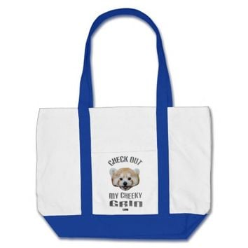 Cheeky Grin Baby Design by Kat Worth Tote Bag