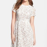 Women's Adrianna Papell Scalloped Lace Dress,