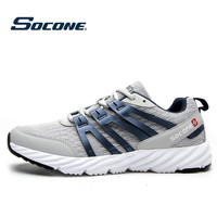 SOCONE New Men's Breathable Athletic Shoes Running Shoes Zapatilla Mujer De Hombre Fashion Sneakers Run