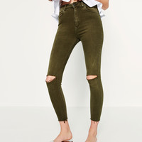 HIGH WAIST SKINNY TROUSERS - View all-WOMAN-NEW IN | ZARA United States