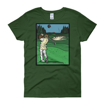 It's a Sand Trap! Admiral Ackbar Sand Hazard Golf Meme Women's short sleeve t-shirt