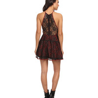 Free People Wish Upon A Star Dress Rich Red Combo - 6pm.com