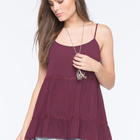 SOCIALITE Tiered Womens Tunic Tank | Tanks & Camis