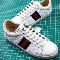 Gucci Ace Embroidered Low Top Sneakers Style 5 - Best Online Sale