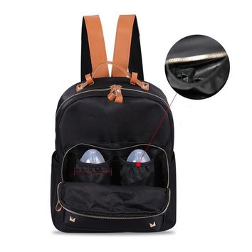 Color Blocking Durable Baby Diaper Bags Women Backpack Nappy Bag For Newborn Mommy Waterproof High Capacity Diaper Bag