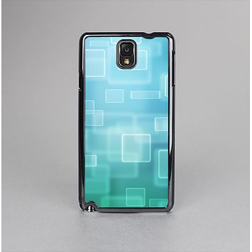 The Transparent Green & Blue 3D Squares Skin-Sert Case for the Samsung Galaxy Note 3