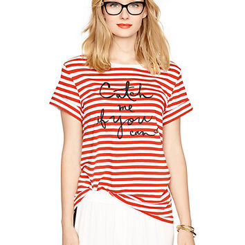 Kate Spade Catch Me If You Can Tee Fresh White