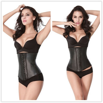 HEXIN Waist Training Corsets Hot Shapers Body Shaper Waist Trainer Latex Waist Cincher Corpetes e Espartilhos Latex Waist Trainer = 1696903300