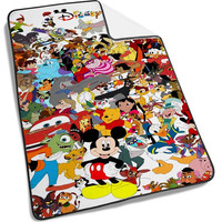 Disney all Character stained glass Blanket